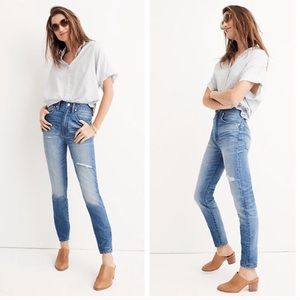 Madewell High Rise Rigid Skinny Distressed Jean 27